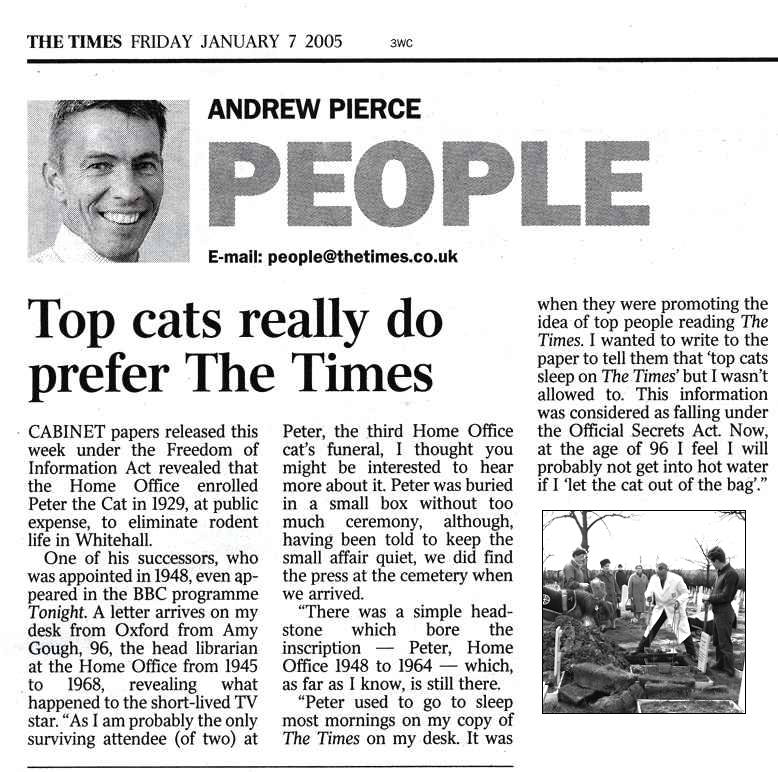 Top cats prefer The Times