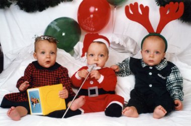 Triplets First Christmas